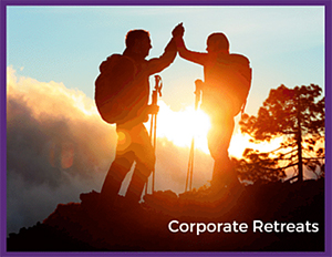 corporate retreat group ski package deals