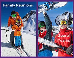 family reunion group packages and sports team packages